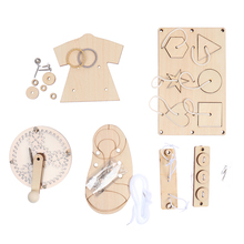 Wood Baby Busy Board Diy Accessories Material Slide Busyboard Early Childhood Education Wooden Toys Scrapbook Puzzle Supplies