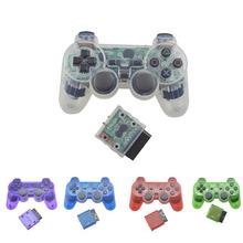 Transparent Color Bluetooth Wireless Gamepad Controller for Sony PS2 2.4G Vibration Controle for Plastation 2 Joystick wired gamepads for sony ps2 controller for mando ps2 ps2 joystick for plasystation 2 double vibration shock joypad геймпад game