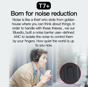 Image 4 - Bluedio T7 + Bluetooth słuchawki zdefiniowanych przez użytkownika aktywne redukcji szumów gniazdo kart sd bezprzewodowe słuchawki z mikrofonem z rozpoznawanie twarzy