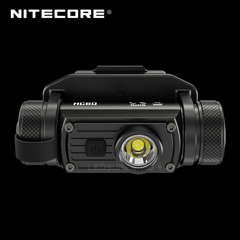 High Performance NITECORE HC60M <font><b>1000</b></font> Lumens Headlamp Rechargeable Tactical Helmet Light with NVG Mount & NL1834 3400mAh Battery image