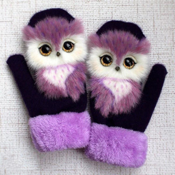 Kobiety grube zimowe ciepłe dziecięce rękawiczki mitenki Cute Cartoon dziewczyny ciepłe rękawice narciarskie jesienne zimowe dziecięce rękawiczki świąteczne tanie i dobre opinie CN (pochodzenie) Poliester Womens Gloves gloves women winter gloves women cartoon gloves winter gloves Ladies Cute gloves