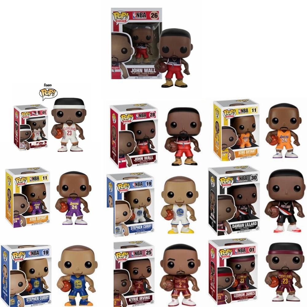 FUNKO POP Basketball star James-Kobe- Stephen Curry -Kyrie Irving -John Wall -Action Figure Collectible Model Toy for Fans(China)