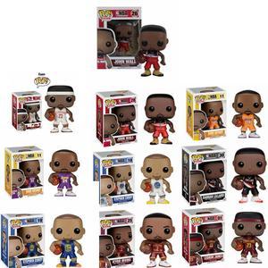 Image 1 - FUNKO POP figuras de estrellas de baloncesto, James, Kobe, Stephen Curry, Kyrie Irving, John Wall, juguete de modelos coleccionables para fanáticos