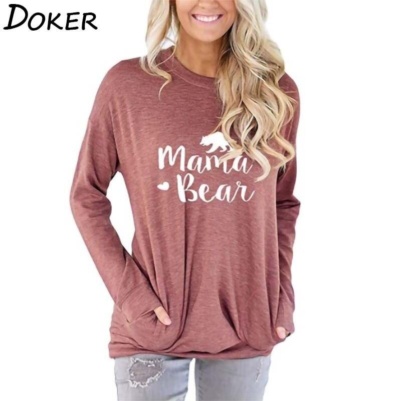 Купить женская футболка с длинным рукавом и буквенным принтом осенняя