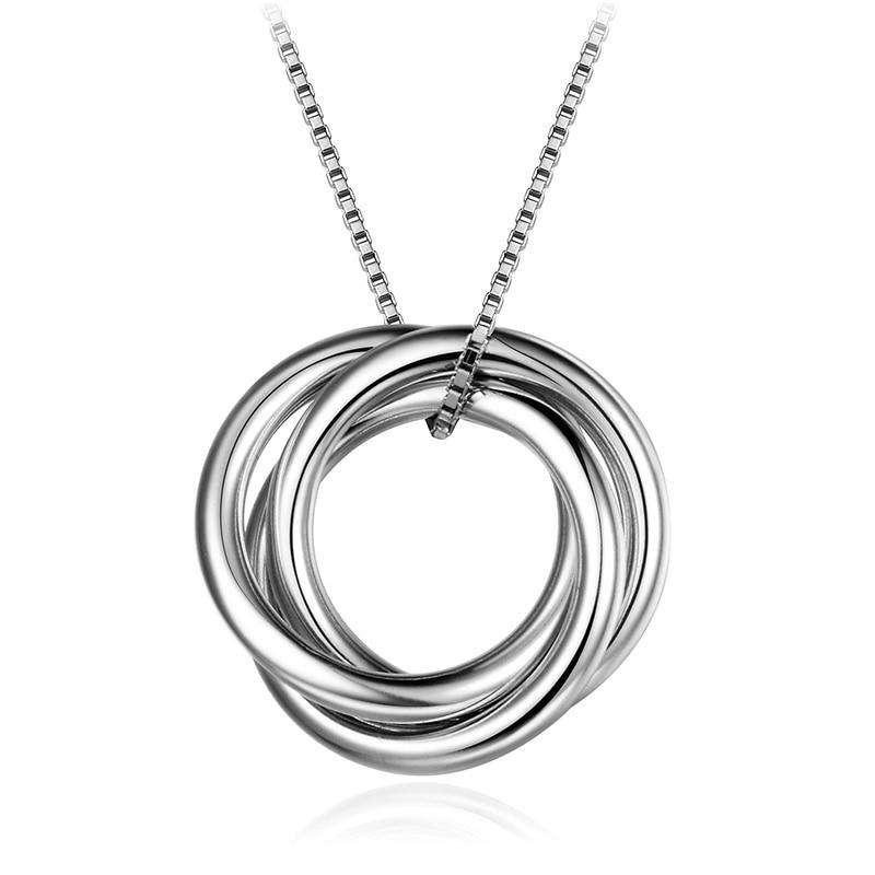 Dorado 925 Sterling Silver Necklaces Irregular Round Pendant Necklace Fine Jewelry Necklaces Wedding Women Accessories