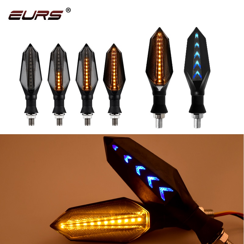 Гибсветильник светодиодный сигнал поворота для мотоцикла, 2 шт.