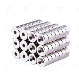 10 шт. неодимовые магниты диаметром 8 мм-20 мм с потайным кольцом M3 M4 M5 редкоземельные магниты N35