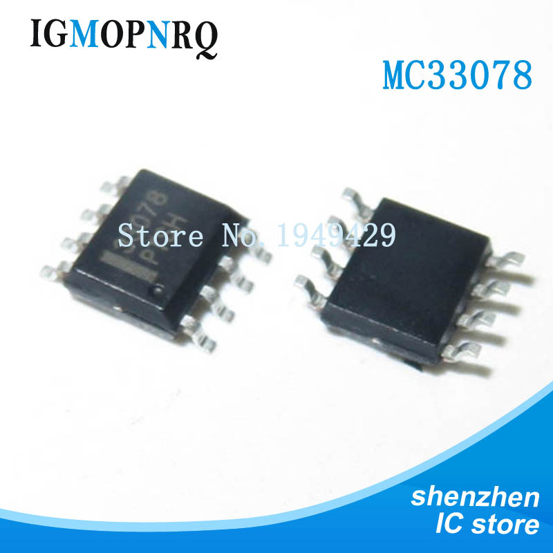 10PCS <font><b>MC33078</b></font> 33078 SOP-8 operational amplifier buffer amplifier with MC33078DR New Original Free Shipping image