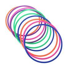 10 pçs anéis de plástico lance alvo carnaval quintal parque jogos crianças inteligência desenvolvimento brinquedo do exercício educacional