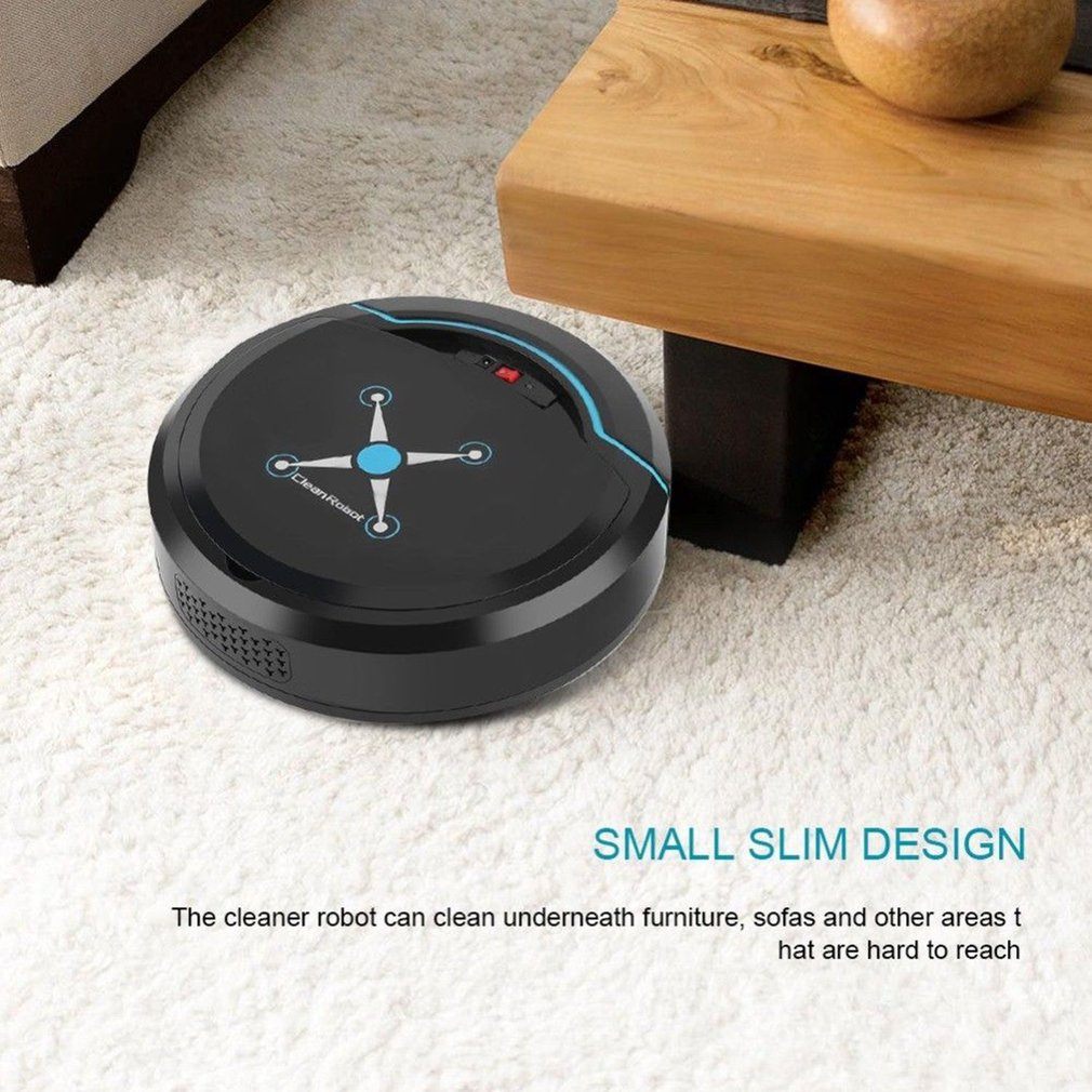 Ha07d211cae2c4fee810b417fc2dac9f3R Automatic Smart Robot Vacuum Cleaner Small Vacuum Cleaners Sweeping Robot Floor Dirt Auto Home USB Rechargeable Cleaning Machine