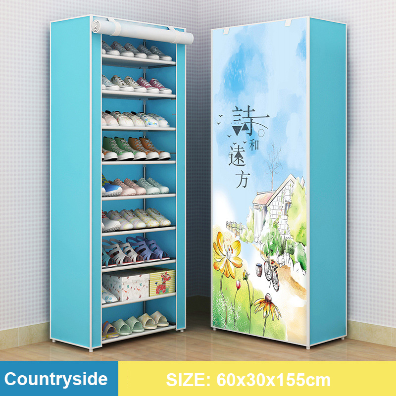 Multi-layer Assembled Shoe Rack Dust-proof Storage Shoe Cabinet Home Shoe Stand Dormitory Simple Storage Shelf Organizer Holder 6