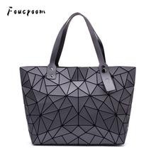 Bolsos de hombro a la moda para mujer, cartera lisa, bolso de mano, bandolera geométrica, bolsos plegables, bolso cruzado informal