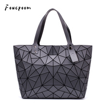Fashion Women Shoulder Bags Plain Handbag And Purse Tote Women Geometric Messenger Bag Ladies Folding Bags Casual Crossbody Bag