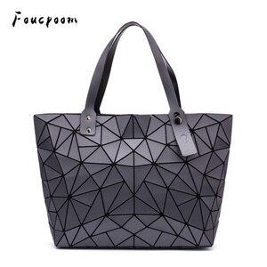 Image 1 - Sac à main géométrique pour femmes, sac à épaule uni, fourre tout, sacoche pliable pour dames, décontracté