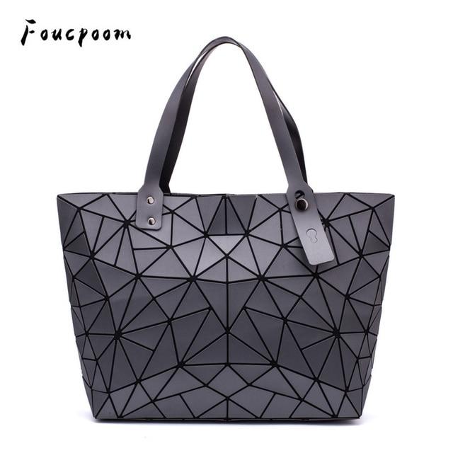 Sac à main géométrique pour femmes, sac à épaule uni, fourre tout, sacoche pliable pour dames, décontracté
