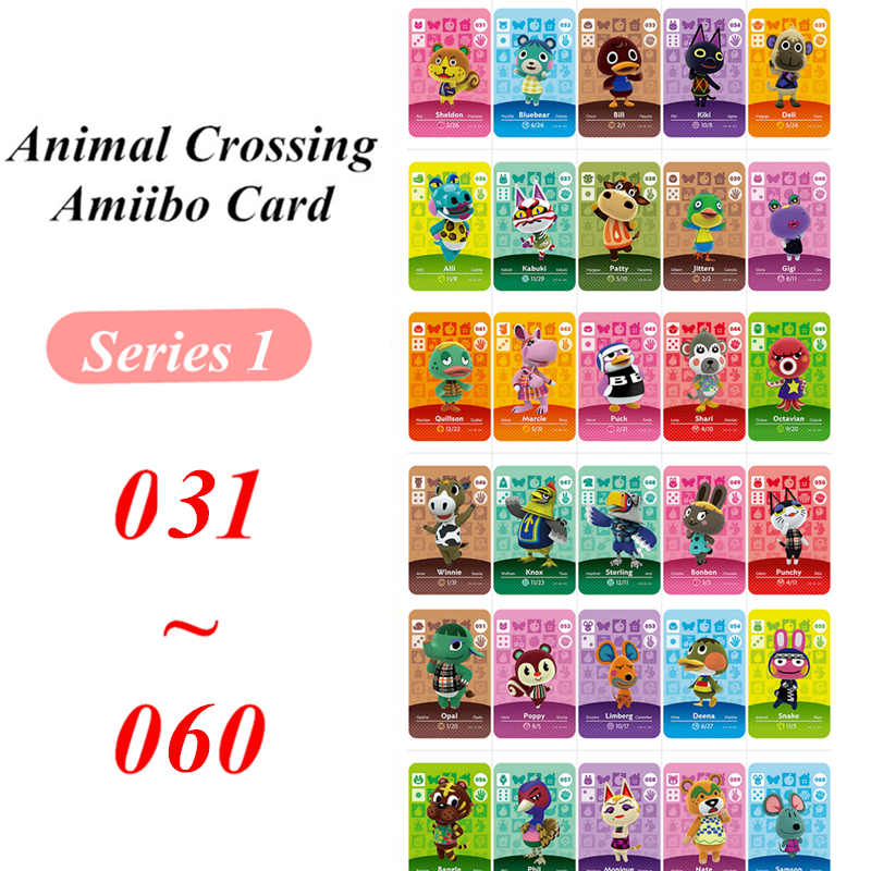 31 To 60 Animal Crossing Card Amiibo NFC Game Card For Nintendo Switch NS Games Series 1 (31 To 60)