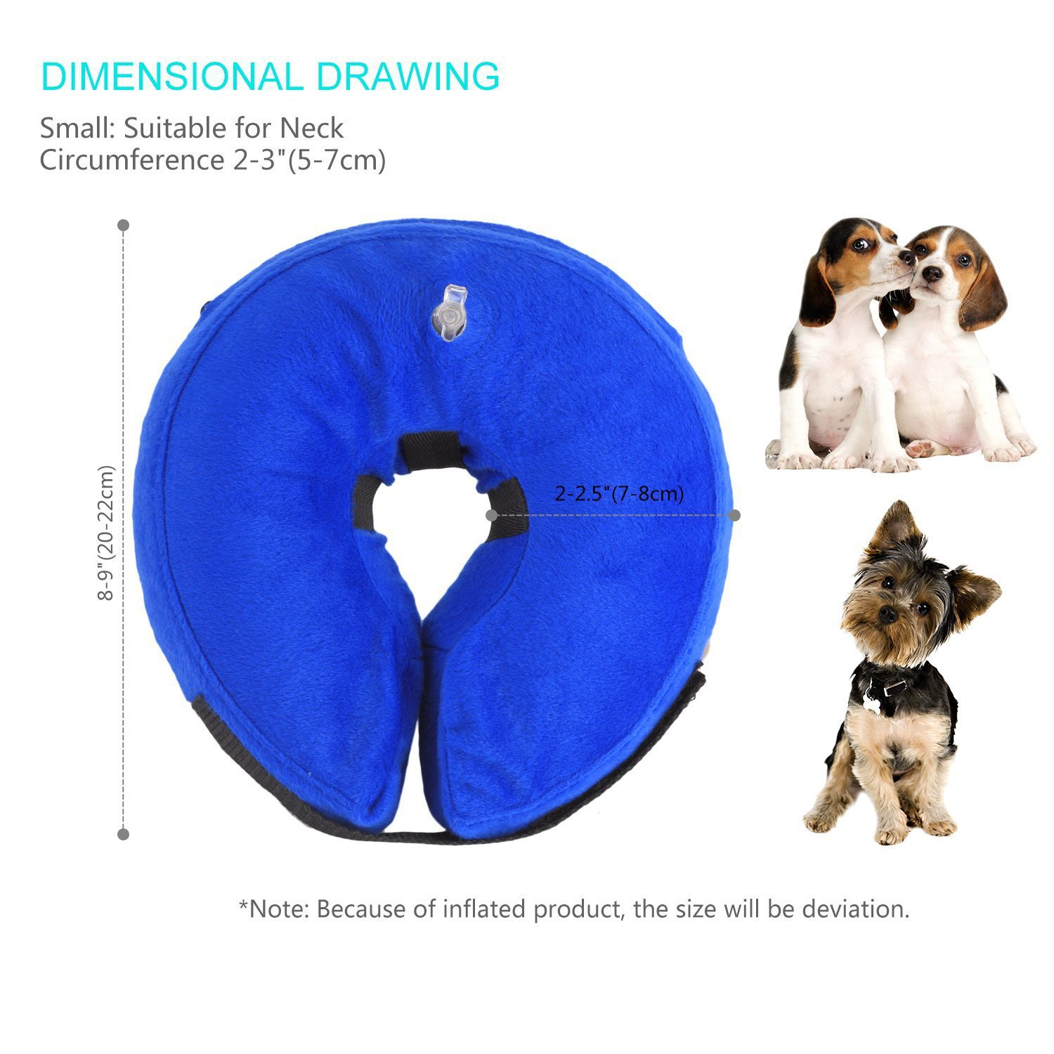 For PVC And Cloth Cover Dog Circle Inflatable Pet Collar Dog Swimming Tube