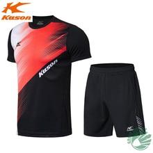Kason New Sports Short Sleeve Quick-drying Fabric Men's Shirt shorts Badminton Clothing Suit FATN001-1