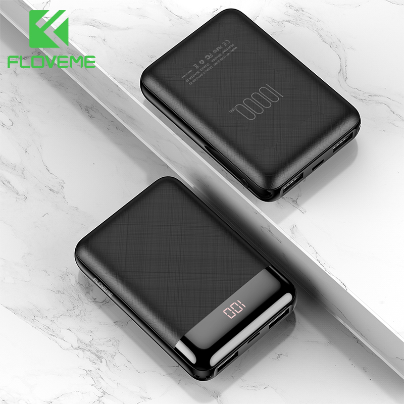 FLOVEME Power-Bank Battery-Pack Portable Charger External 10000mah Mini for Xiaomi Dual title=
