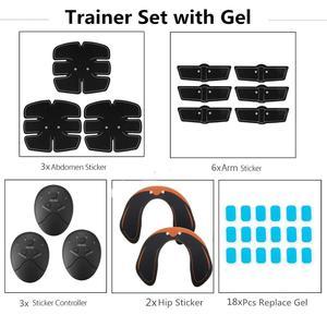 Image 5 - 32 Pçs/set EMS Trainer Abdominal ABS Músculo Abdominal Hip Conjunto Corpo Perda de Peso Emagrecimento Cinto de Massagem Estimulador Muscular Elétrica