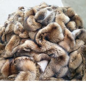 Image 5 - Real Raccoon Fur Collar Womens Natural Fur Gray Collar Real Fur Shawl Raccoon collar Fur Scraves