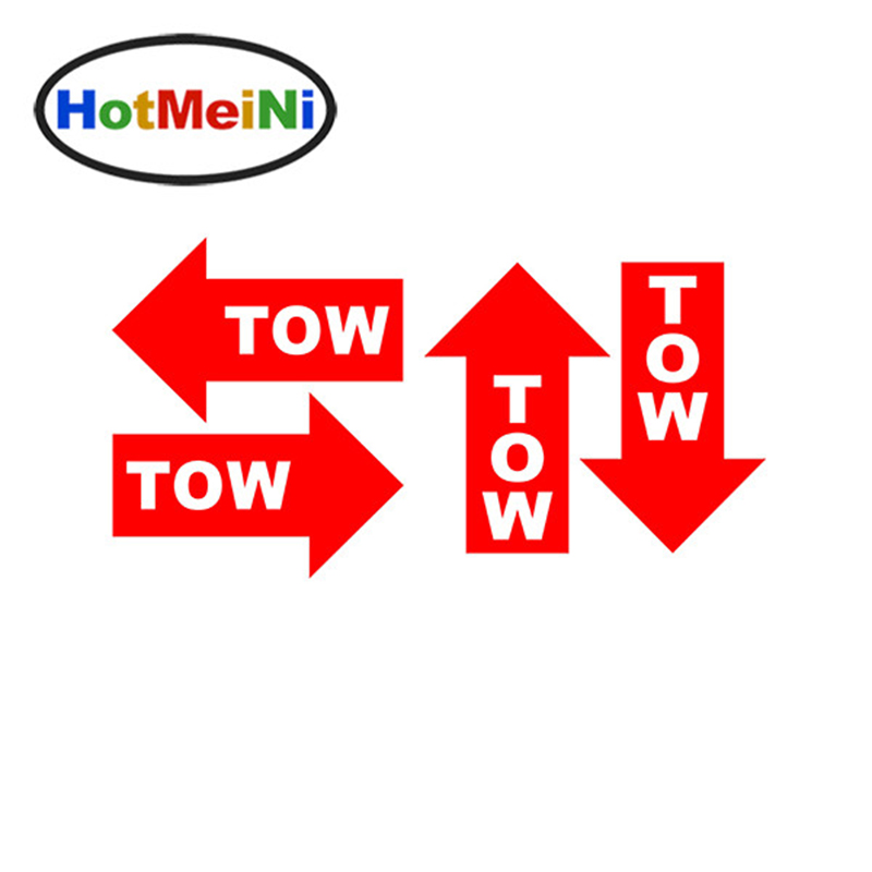 HotMeiNi 12.5 * 8CM 4Pcs Tow Hook Arrow Car Sticker Decal Vinyl Car - Accesorios exteriores para automóviles