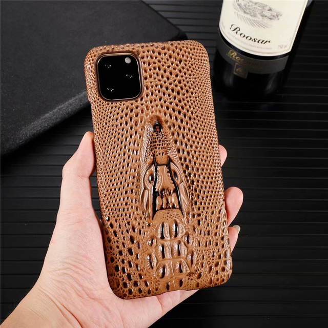 Genuine Leather Cow Hide Stereoscopic 3D Case for iPhone 11/11 Pro/11 Pro Max 4