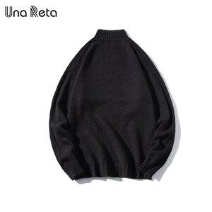 Image 3 - Una Reta Turtleneck Men Sweater New Autumn Winter Print Cat Pullover Mens Sweater Pull Homme Casual Loose Sweater Men