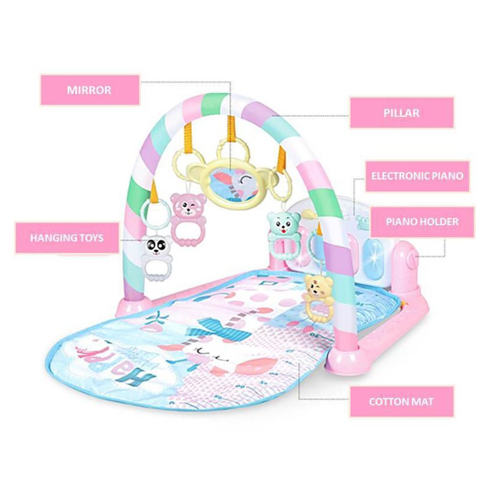 bebe ginasio puzzles mat rack de brinquedos 04