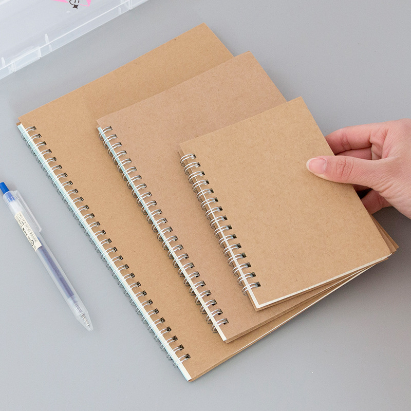 A5 Notebook Kraft Journal Grid Dot Blank Line Drawing Planner Agenda Stationery Doted Note Book School Office Supplies