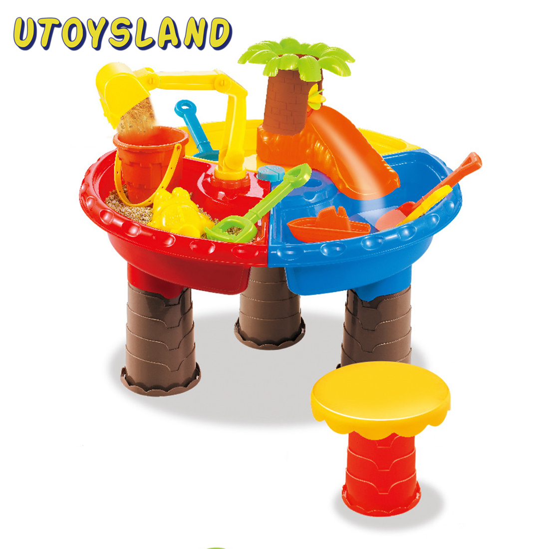 22Pcs Kids Plastic Sand Pit Set Beach Sand Table Water Play Toy Outdoor Beach Sanding Toys For Children Kids