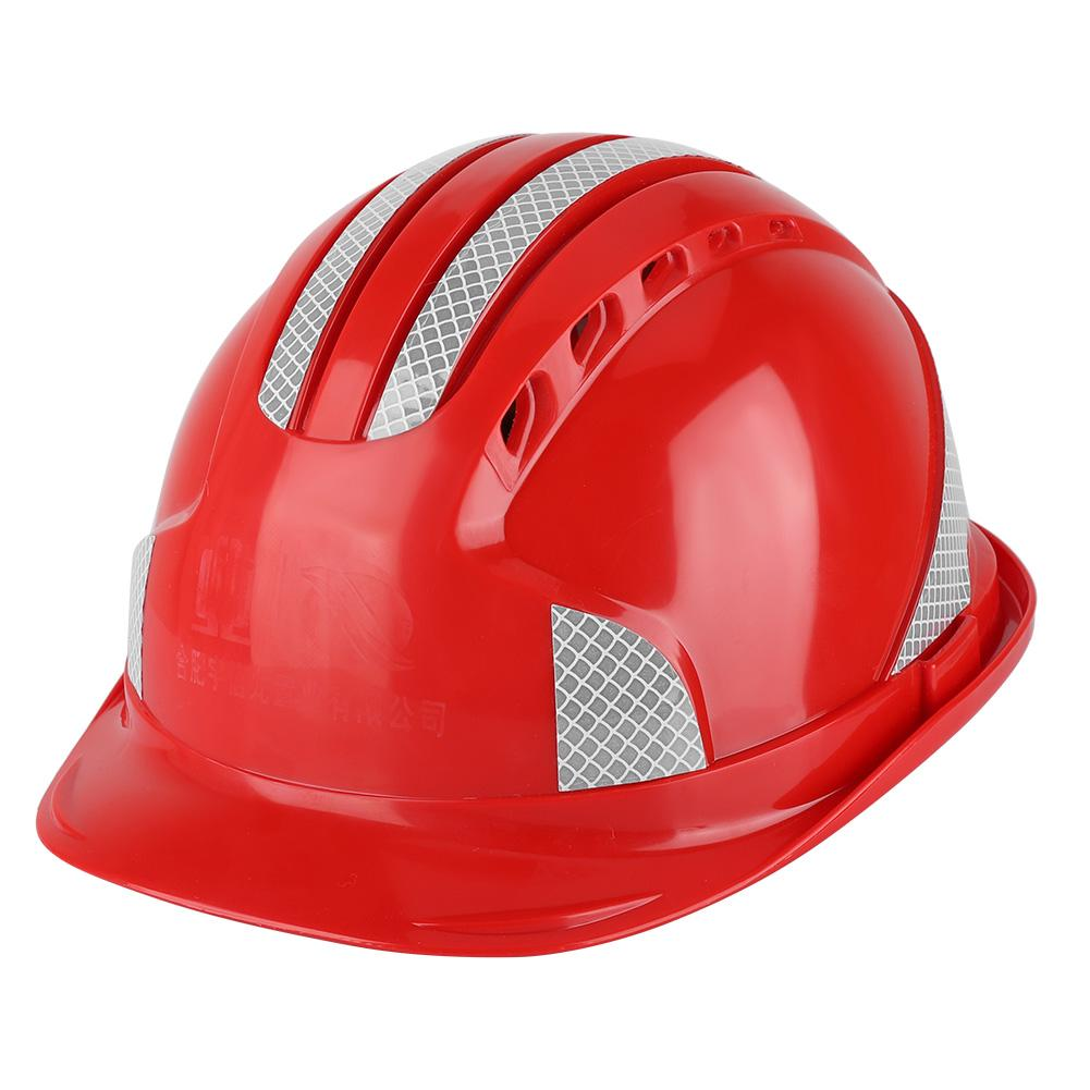 Giá bán ANPWOO Worker Construction Site Protective Cap Ventilate ABS Hard Hat Reflective Stripe Safety Helmet