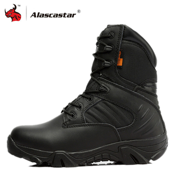 Motorcycle Boots High Ankle Racing Moto Boots Men Military Boots Quality Special Force Tactical Desert Combat Army Work Boots zyyzym men desert boots tactical military boots mens high top outdoors shoes army boot zapatos ankle lace up combat boots men