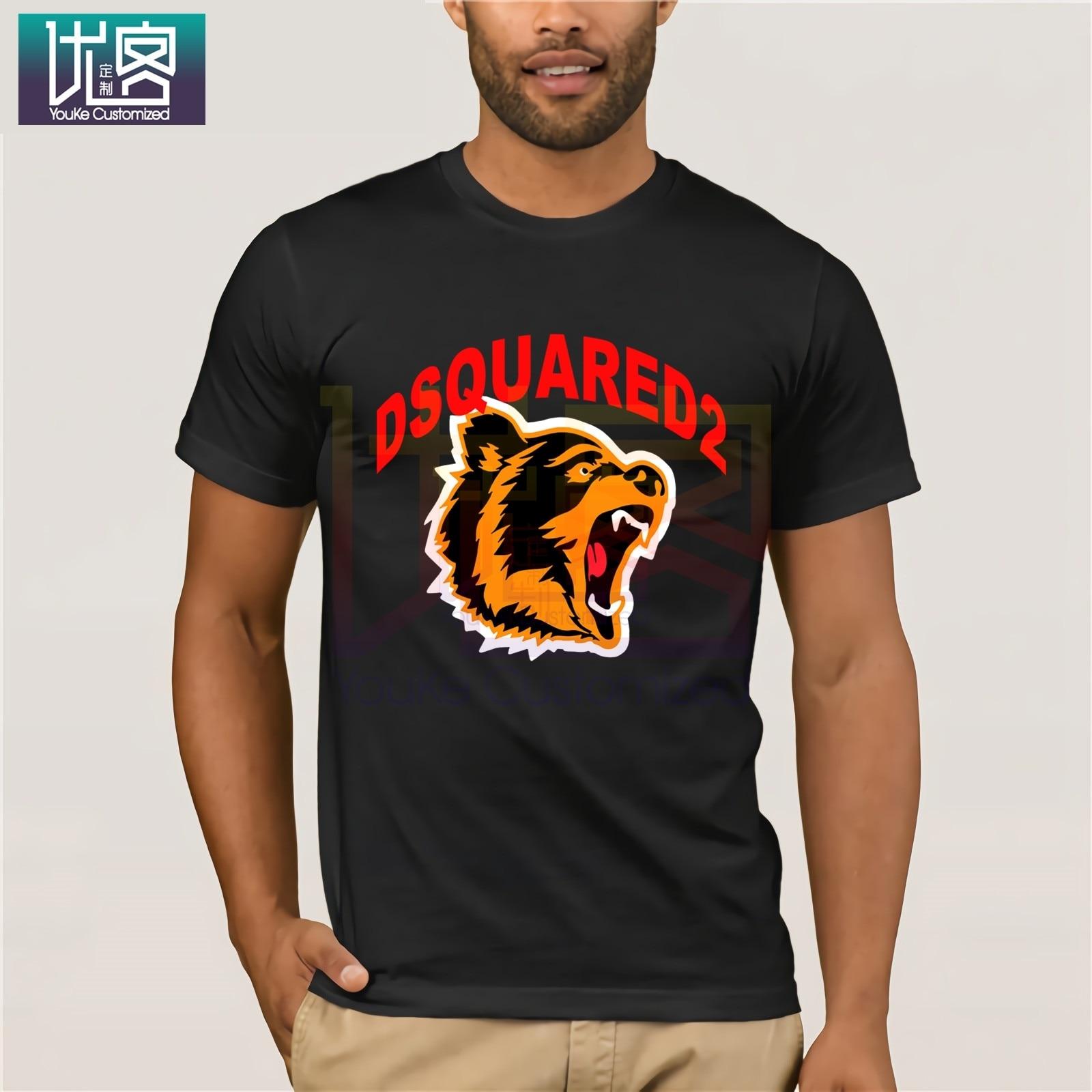 New Dsq2 Men'S T-Shirt Printed Tee Unisex Size S-3Xl Casual Short Sleeve Top Clothes Popular T-Shirt Crewneck 100% Cotton Tees