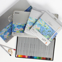 Student drawing art design colored pencil 24/36/48/72 color oily pencil paper box and iron box packaging set