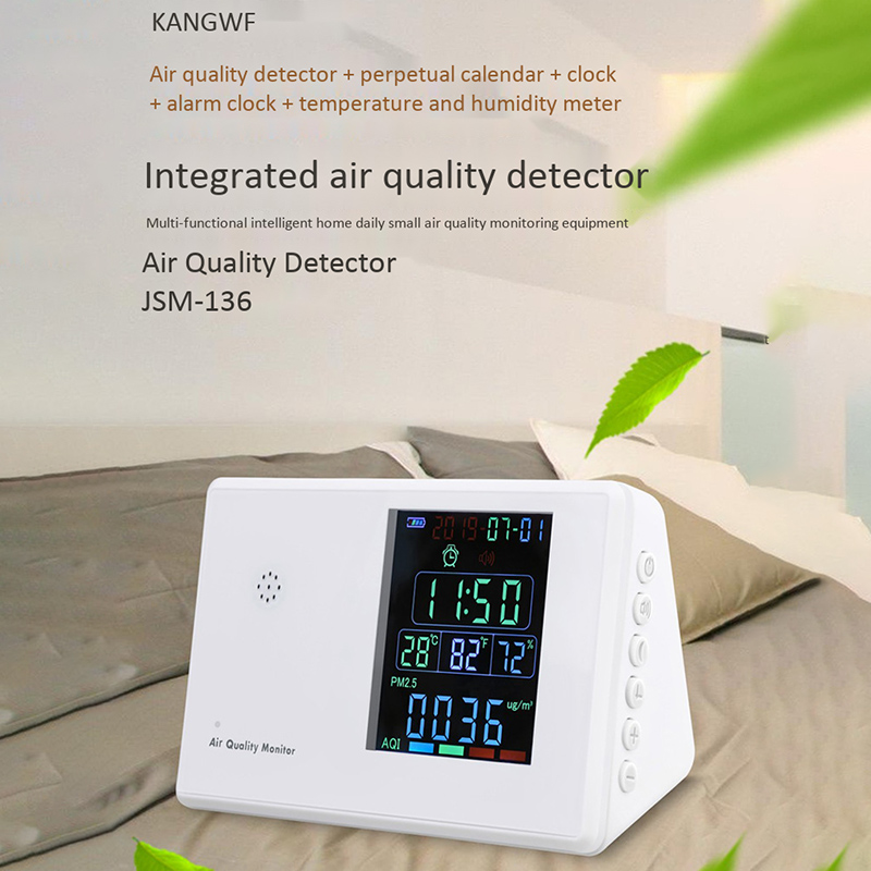 Detector de formaldeído digital altamente preciso profissional hcho/tvoc/co2/pm2.5/pm10/temp/humi tester aqi monitor de qualidade do ar gás