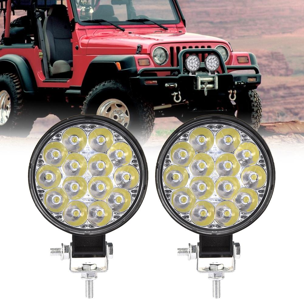 2pcs LED Car Light Work Light 2590 LM 42W Leds Spotlights IP67 For Wrangler Modified Lamp Boating Buses Ship SUV Super Thin