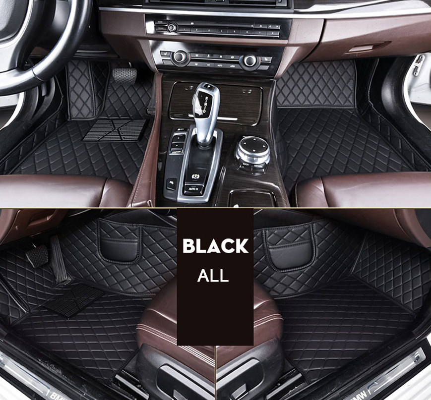 leather car floor mats for <font><b>Audi</b></font> A6L R8 Q3 Q5 Q7 S4 S5 S8 RS TT Quattro A1 A2 A3 <font><b>A4</b></font> A5 A6 A7 A8 car accessories styling image