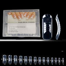 Acrylic Nails Form Dual Tips Nail Accessoires Manicure Makeup Tools Nails Reusable UV Builder Tips Clip Clear Full Cover Shape