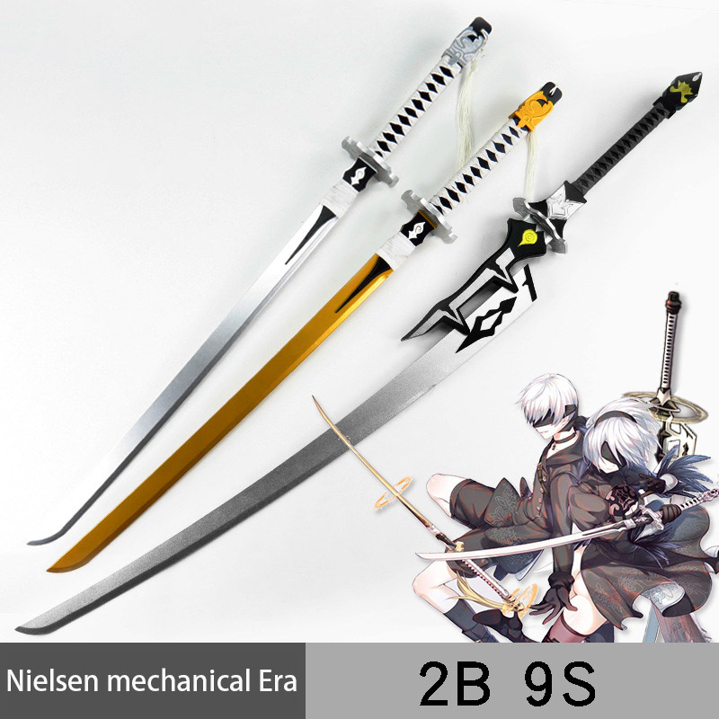 Neil Machine Age 2b Miss 9s Sword White Contract Knife Big Sword Cosplay Props Wooden Machete Simulation Toy Sword Toys Kids