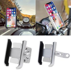 Image 5 - 360 Degree Universal Metal Bike Motorcycle Motorbike Mirror Handlebar Smart Phone Holder Stand Mount For iPhone Xiaomi Samsung 4