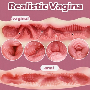 Image 5 - Realistic Ass 3D Silicone Vagina Anal Artificial Pussy Double Channels Tight Vagina Anus Male Adult Sex Toys Masturbator for man