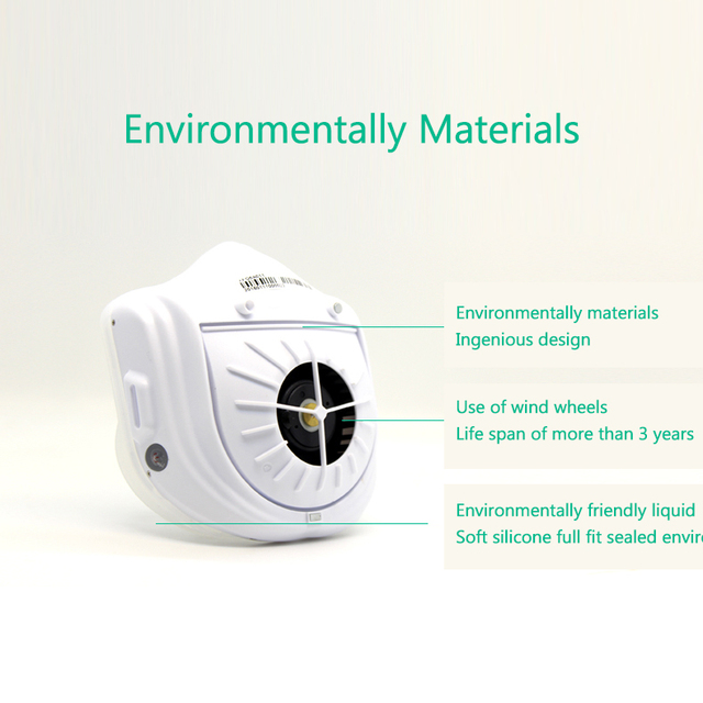 From Youpin Q5S Electric Anti-haze Sterilizing Mask Provides Active Air Supply Electric Mask for Autumn Winter Fog 2