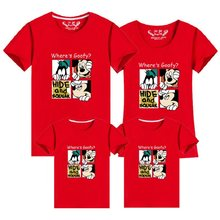 Family Clothes Fashion Mother Father Daughter Son Family Look Matching T Shirt Minnie Mickey Mouse Shirts Family Summer Outfits(China)