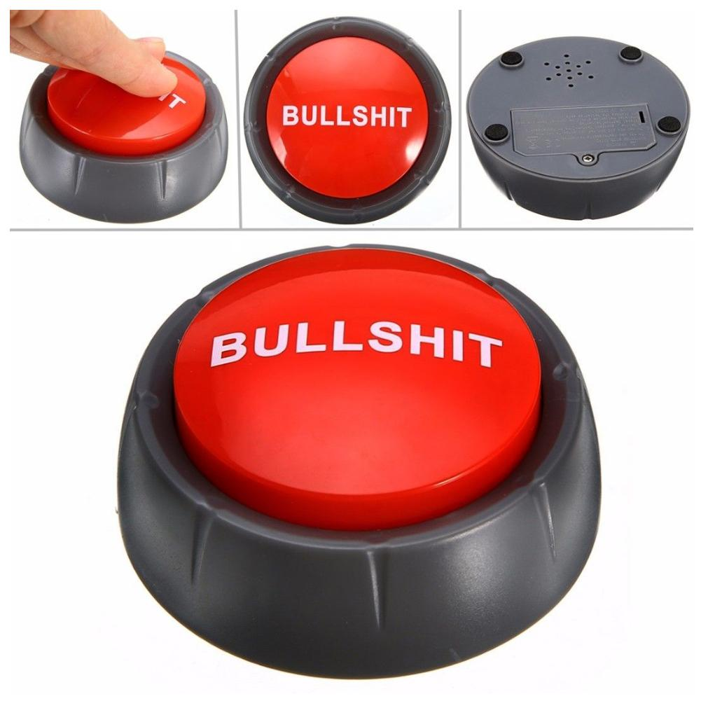 Talking Button Bullshit Maybe No Sorry Yes Sound Talking Button Home Office Birthday Party Funny Gag Toy