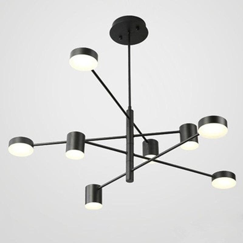 Современный светодиодный светильник с подвеской в скандинавском стиле для столовой, кухни, подвесной светильник, большие светильники, цвет