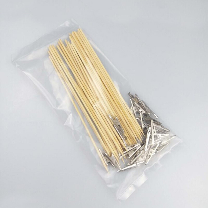 For Model Painting Tools Coloring Clamp Bamboo Stick Steel Head Clip (30pcs/bag)