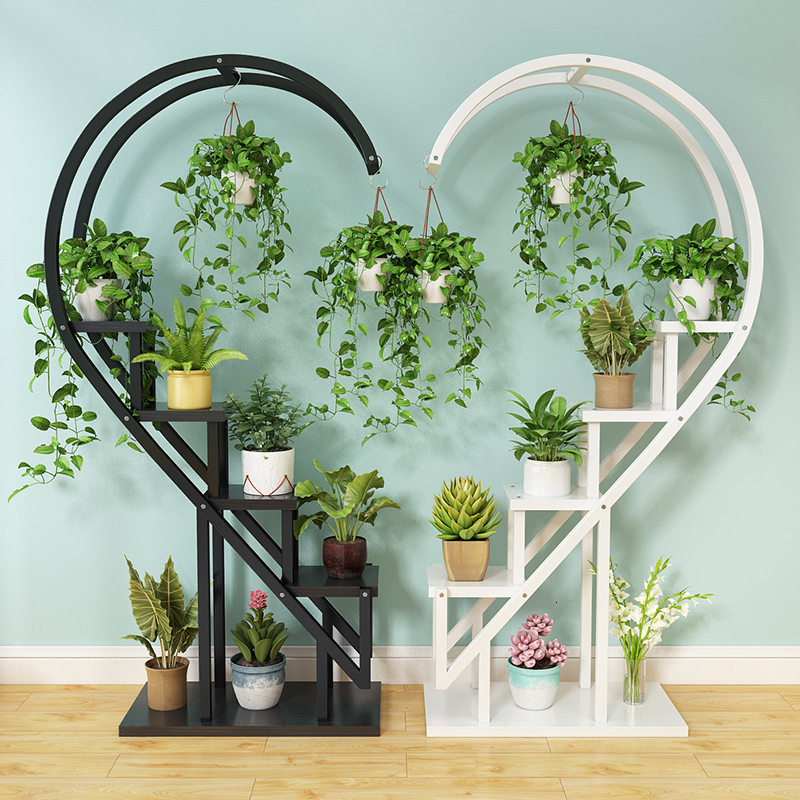 Flowerpot Frame Balcony Decorate Shelf Circular Heart-shaped Simplicity Landing Type Indoor  Household