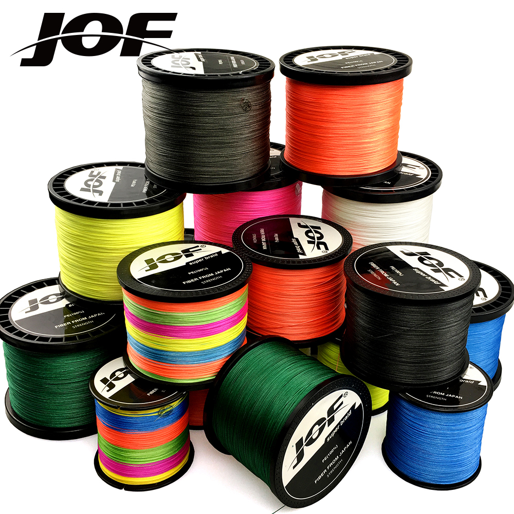 JOF Braid Fishing line 500M 300M 4 Strands 8 Strands Multifilament Fishing Wire Carp Fishing 10-120lb
