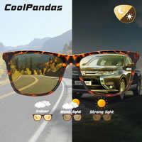 Plaza de las mujeres leopardo fotocromáticos gafas de sol hombres día de la visión nocturna gafas polarizadas para conducir mujer camaleón gafas de sol de mujer
